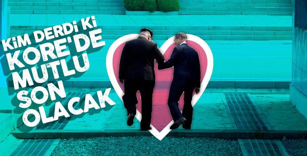 Kuzey Kore ve Güney Kore liderleri buluştu