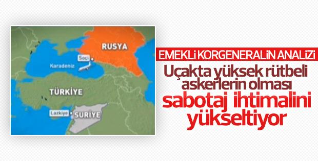 Düşen Rus uçağı hakkında sabotaj iddiası