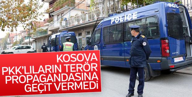 Kosova'da terör yandaşlarının propagandası engellendi
