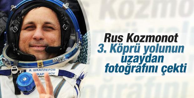 Rus Kozmonot Anton Shkaplerov İstanbul fotoğrafı paylaştı
