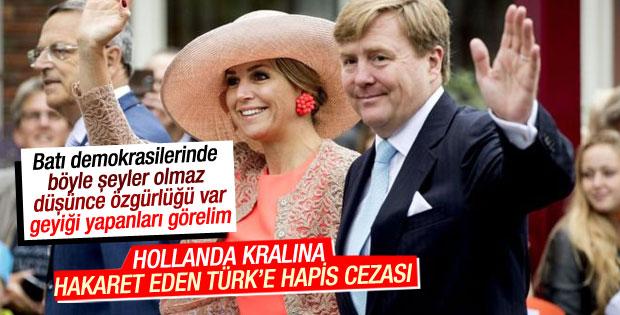 Hollanda'da Kral'ına hakarete hapis cezası