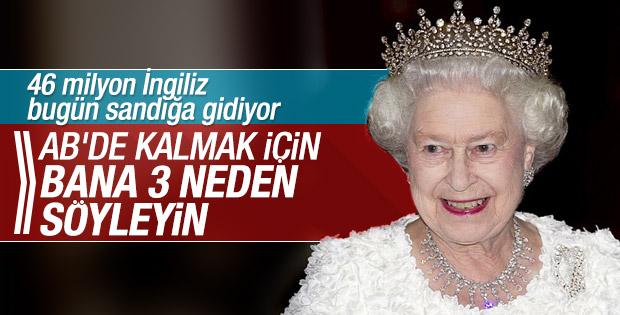 İngiltere Kraliçesi'nden referandum yorumu