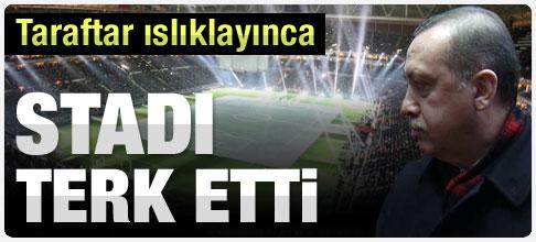Erdoğan Türk Telekom Arena'yı terk etti