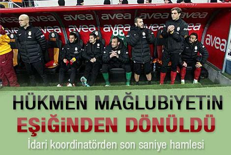 Galatasaray az kalsın hükmen yeniliyordu