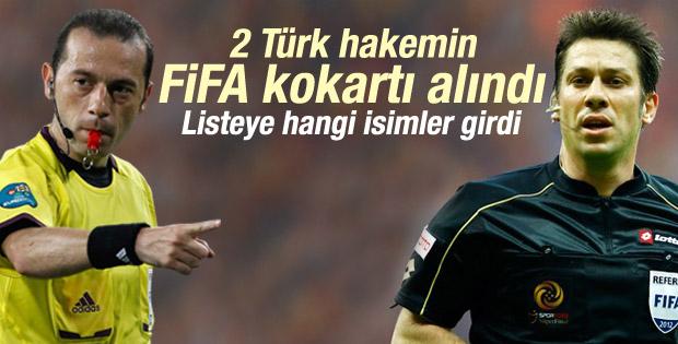 Bülent Yıldırım ve Fırat Aydınus'un FIFA kokartı alındı