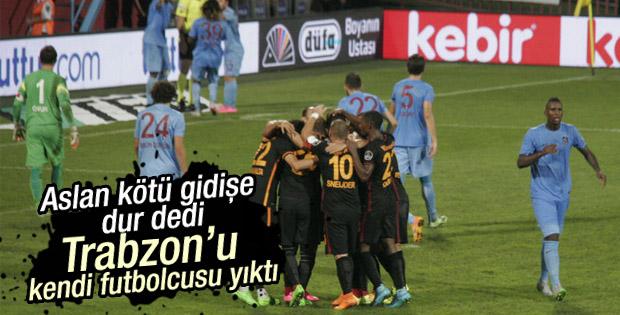 Galatasaray Trabzonspor'u deplasmanda yendi