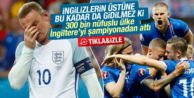 EURO 2016'da İzlanda İngiltere'yi eledi