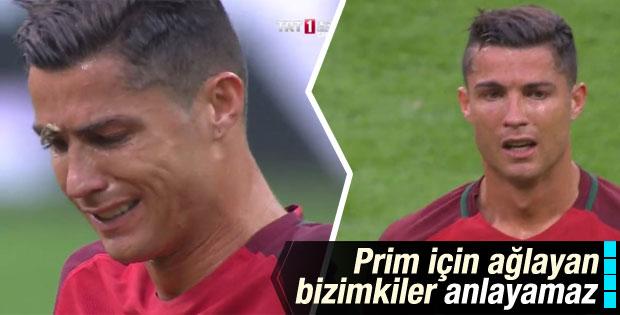 Ronaldo final maçında gözyaşlarına hakim olamadı
