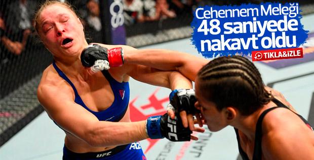 Ronda Rousey 48 saniyede nakavt oldu - İZLE
