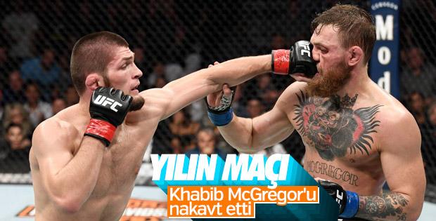 Khabib, McGregor'u yendi kemerini korudu