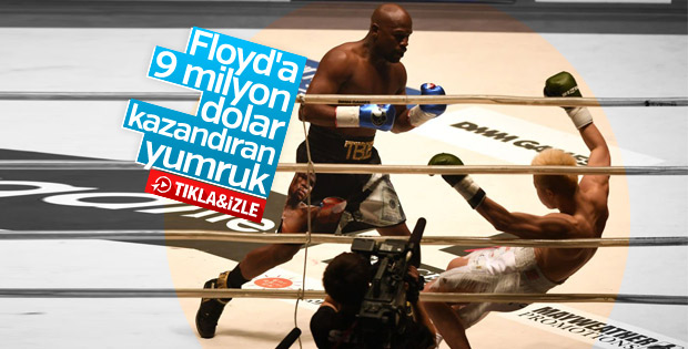 Floyd Mayweather kickboks dövüşçüsünü mağlup etti