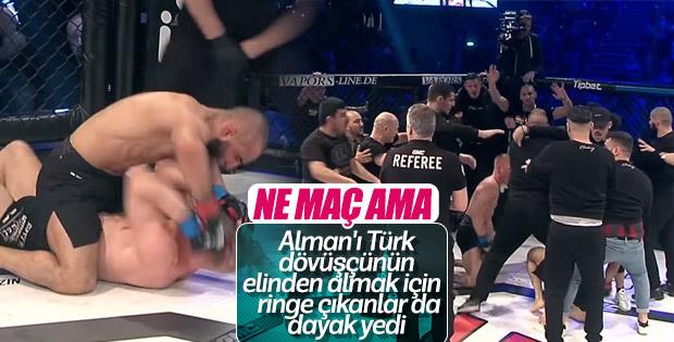 Türk sporcu Ömer Solmaz, Alman rakibini nakavt etti