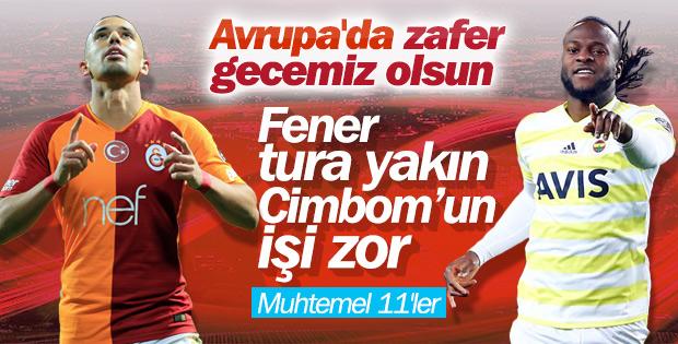 Fenerbahçe ve Galatasaray'ın muhtemel 11'leri