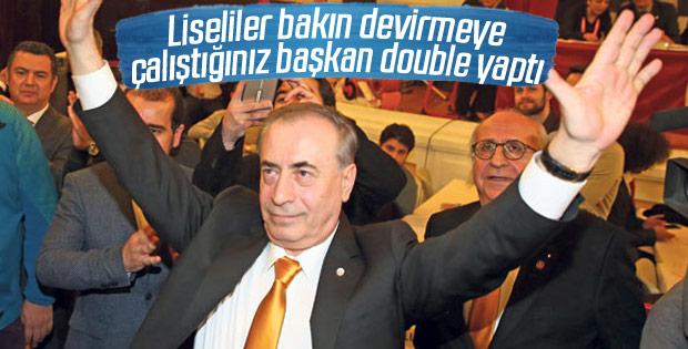 Galatasaray yönetimi, muhaliflere sahada cevap verdi