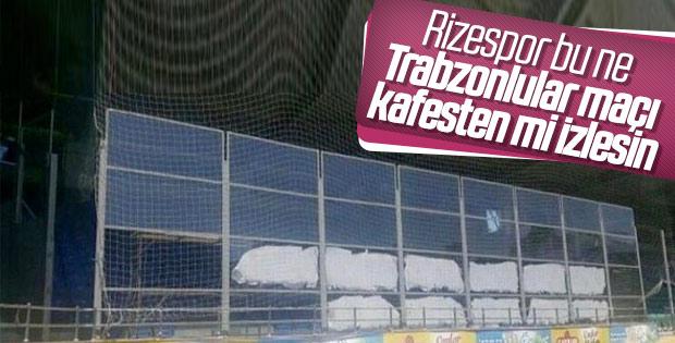 Trabzonspor için hazırlanan deplasman tribünü