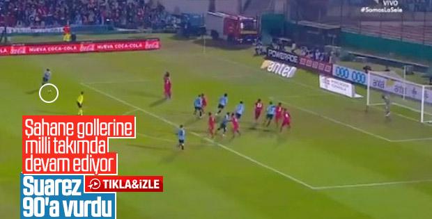 Suarez'den Panama'ya nefis frikik golü