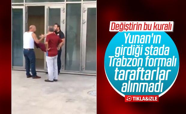 Trabzonspor formalı taraftarlar stada alınmadı