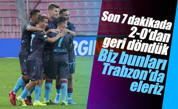 Trabzonspor, Sparta Prag ile 2-2 berabere kaldı