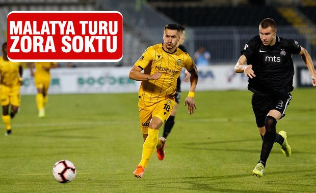 Yeni Malatyaspor Avrupa Ligi'nde Partizan'a yenildi