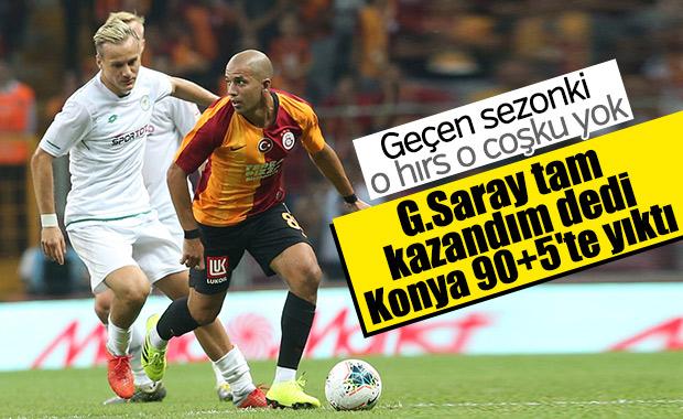 Galatasaray son dakikada beraberliğe razı oldu