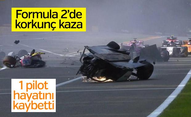 F2'de büyük kaza sonrası yarış iptal oldu