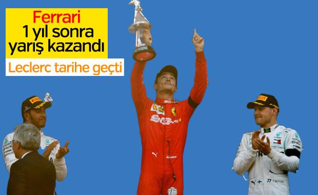 Leclerc kariyerinin ilk galibiyetini aldı