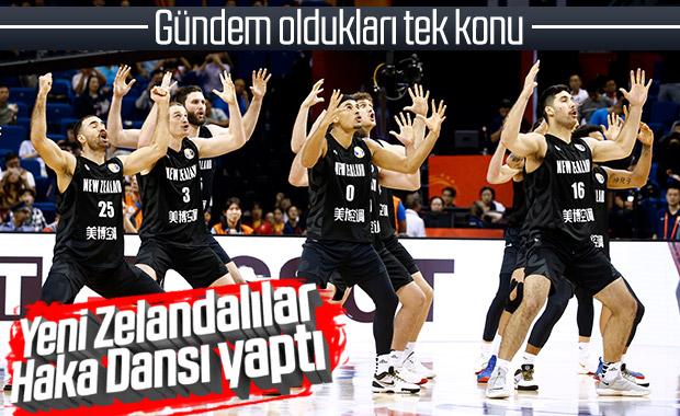 Yeni Zelandalı basketbolcuların Haka Dansı