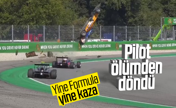 Formula 3'te Alexander Peroni'nin geçirdiği büyük kaza