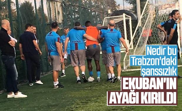 Trabzonspor'da Ekuban sakatlandı