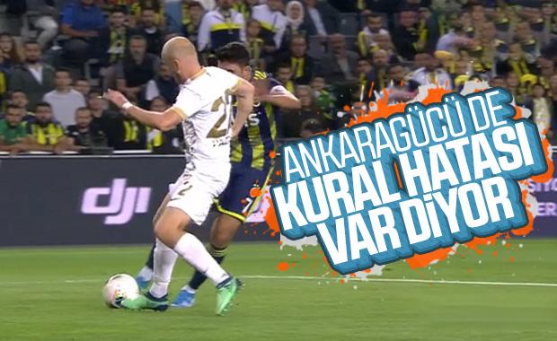 Ankaragücü: F.Bahçe maçında kural hatası yapıldı