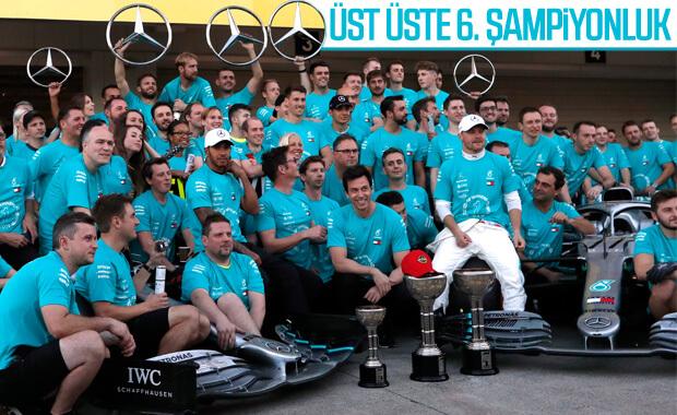 Bottas kazandı Mercedes şampiyon oldu