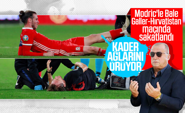 Modric ile Bale aynı maçta sakatlandı