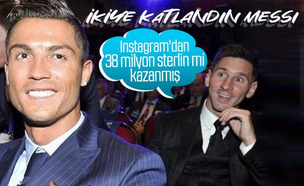Instagram'da Ronaldo Messi'den çok kazandı