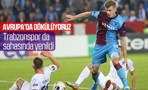 Trabzonspor sahasında Krasnador'a yenildi