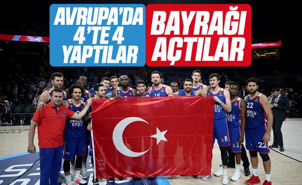 Anadolu Efes Avrupa Ligi'nde Kızılyıldız'ı yendi