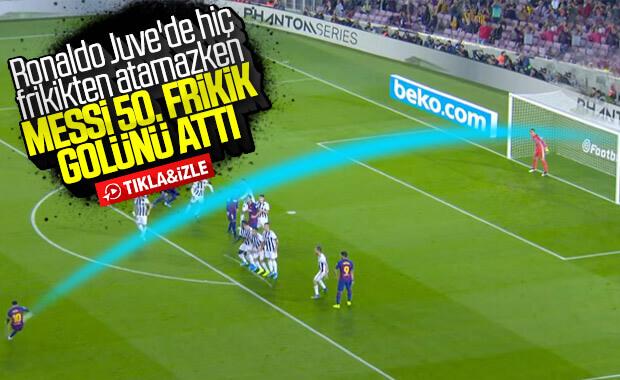 Messi'nin 50. frikik golü