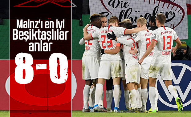 Leipzig, Mainz'e gol oldu yağdı