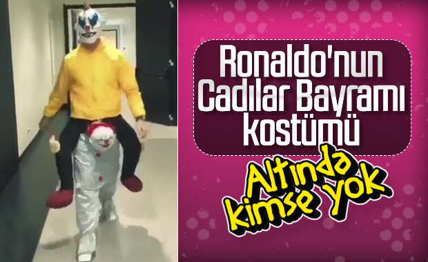 Ronaldo'nun Cadılar Bayramı kostümü