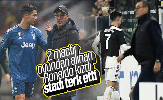 Oyundan çıkan Ronaldo, Sarri'ye tepki gösterdi