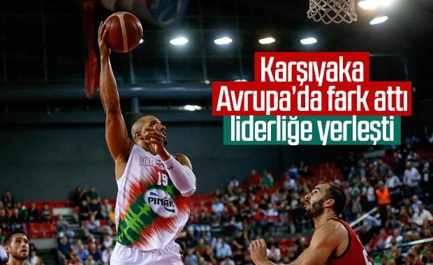 Pınar Karşıyaka Avrupa Kupası'nda liderliğe yükseldi