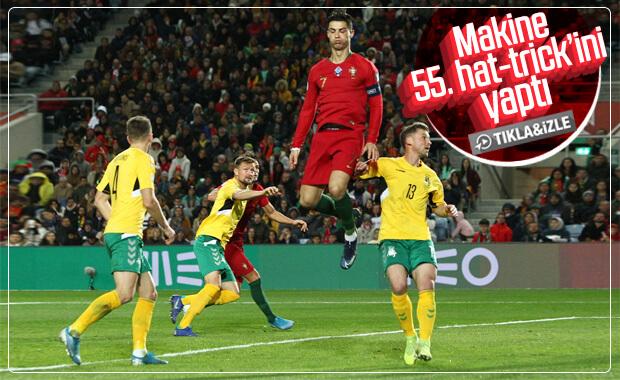 Ronaldo yine hat-trick yaptı