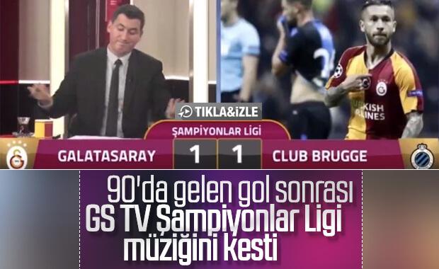 Club Brugge'ün golünde GS TV'de yaşanan üzüntü