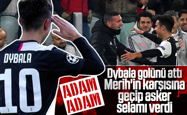 Dybala gol sevincini Merih'le paylaştı