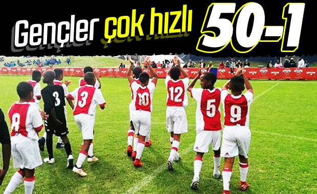 Ajax'ın U12 takımı rakibine 50 gol attı