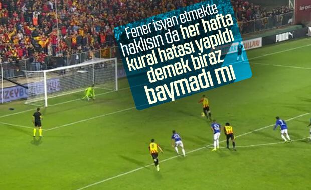 Fenerbahçe yine kural hatası yapıldı diyor