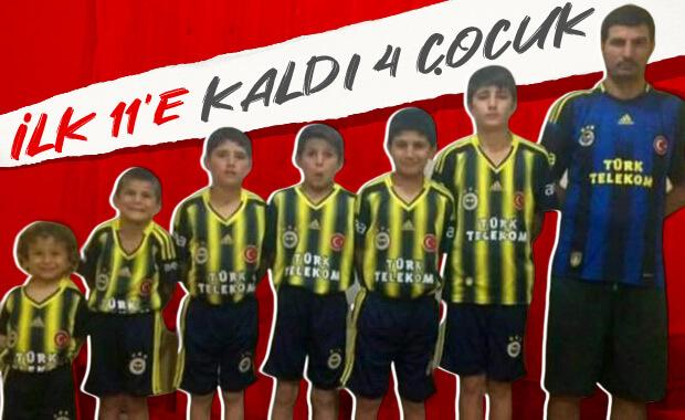 6 çocuk babası fanatik Fenerbahçe taraftarı