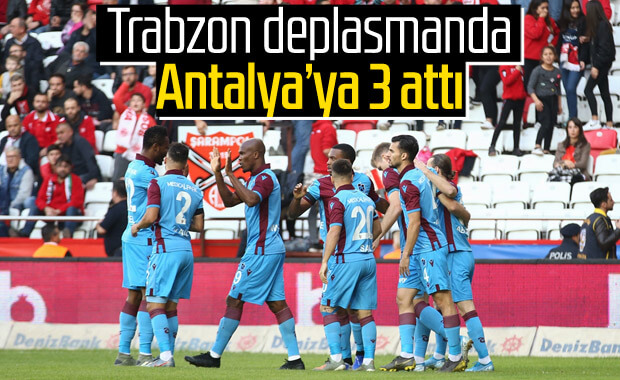 Trabzonspor Antalya'da rahat kazandı