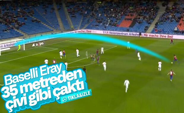 Eray Cömert, 35 metreden harika bir gol attı