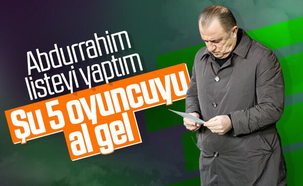 Fatih Terim'in transfer listesi