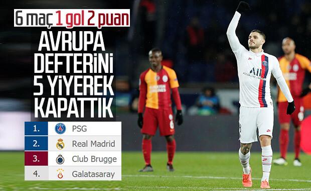 Galatasaray Paris'te 5 yedi